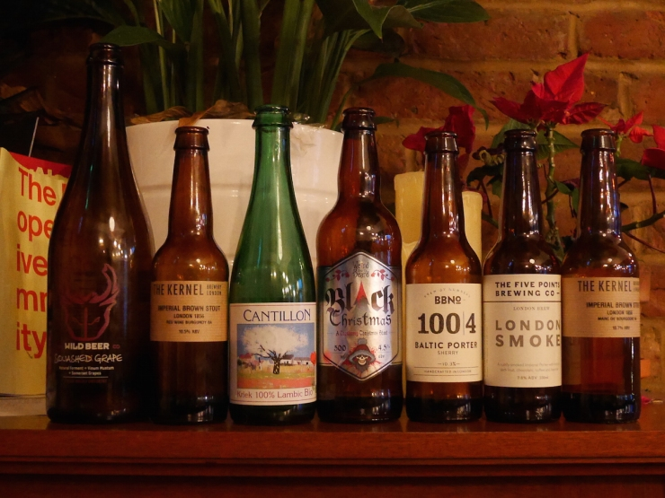 Christmas 2015 beers at The Chesh